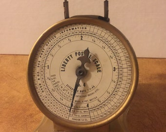 Vintage Liberty Postal Scale No. 4 Triner Mfg Co Chicago
