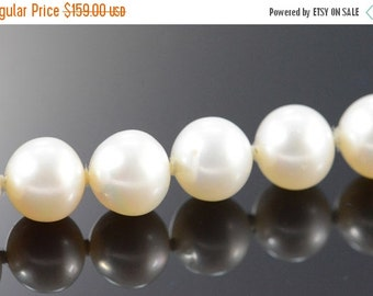 "1 Day Sale 14K 7mm Pearl Strand Bracelet 7.25"" Yellow Gold"