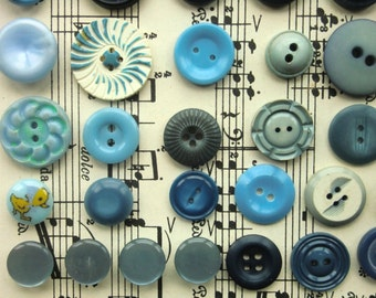 Why So Blue Vintage Buttons,Found Object,Upcycling, Button Craft,DIY Crafts,Embelishment,Bakelite,Moodboard Making,Textiles,Personal Gift