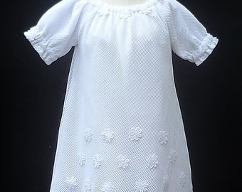 "White Baby girls Baptism dress, size 3-6 months Clothing for girls ""READY TO SHIP"""