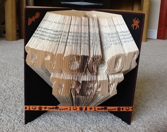 Trick or treat folded book art