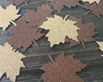 Large Glitter Maple Leaf Confetti, fall glitter confetti, Leaf confetti, Thanksgiving decor, Woodland confetti, enchanted forest party