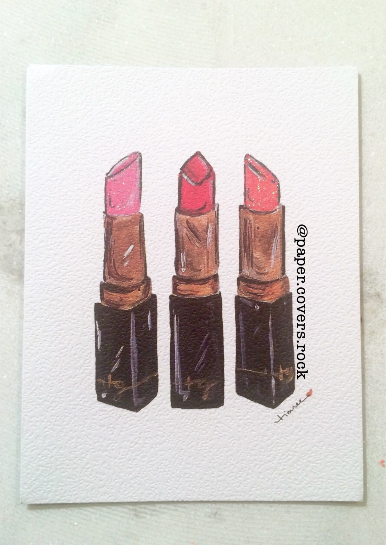 timree lipstick notecards 6pieces michaels