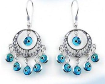 SALE-925 Sterling Silver Chandalier Earrings