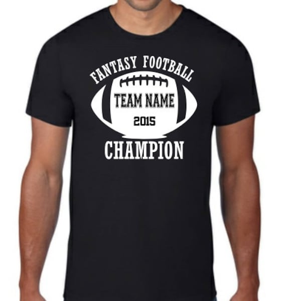 Custom Fantasy Football League Champion T Shirt By