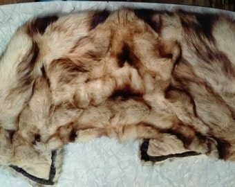 "1940's Fur Fitch (ermine fur) collar in MINT condition along with ""bonus"" extra piece. Rare fur pieces"
