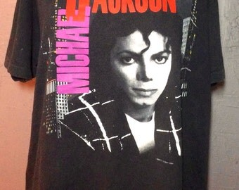 Original MICHAEL JACKSON vintage european 1988 tour T SHIRTAsk a Question