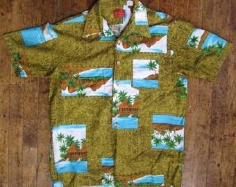 Vintage Kings Road Hawaiian Diamond Head mens shirt