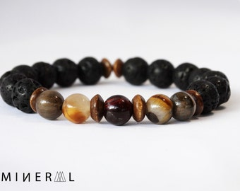 Man Semi-precious beaded Bracelet