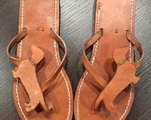 Dachshund Doxie Lover Gift Handmade Christmas  Flip Flops Shoes