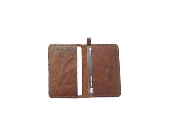 Leather holder cards