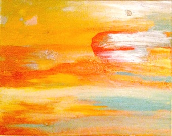 Sun Stone Painting, PAINTINGS, ART, ABSTRACT, Art Prints, bright paintings, artwork, instant-download, yellow paintings, colorful paintings