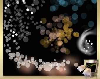 5 Bokeh Overlays Vol. 11 - Photoshop Overlays Foto Overlays Photography-Overlays Photo Overlays for Photographers digital confetti png