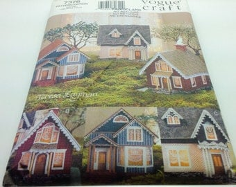 Vogue Craft 7376 Miniature Victorian Village No Sew Optional Lighting Teresa Layman Uncut New FF