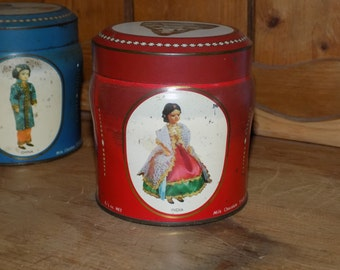 Vintage Tin, Mid-Century Tin, Kemps chocolate finger tin