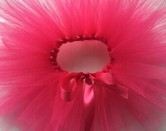 Hot pink tutu, first birthday, pink tutu, tulle tutu