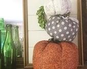 Set of Three Fabric Pumpkins