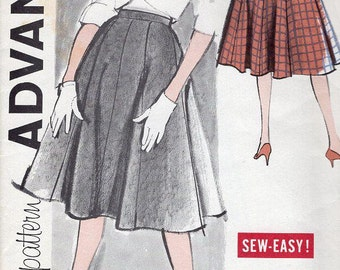 FREE US SHIP Sewing Pattern Advance 9497 Vintage Retro 1960s 60s Gored Skirt Uncut Waist 30