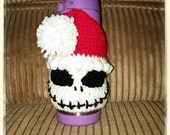 Santa Jack skellington coffee cup cozy