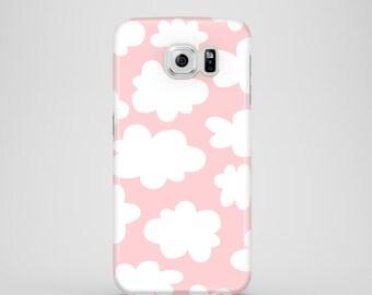 Pastel Pink Clouds phone case, Samsung Galaxy S7, Samsung Galaxy S6, Samsung Galaxy S6 Edge, Samsung Galaxy S5
