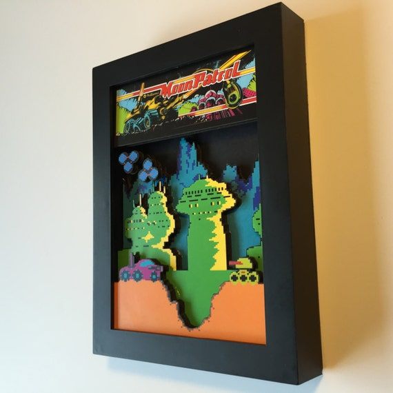 Moon Patrol Arcade 3D Shadow Box