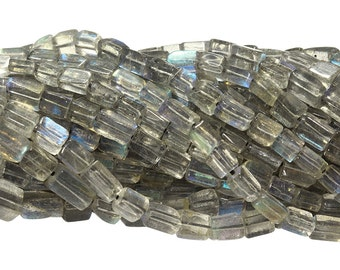 14 1/2 IN Strand 4x6 mm Labradorite Rectangle Smooth Gemstone Beads (LABREC0406)