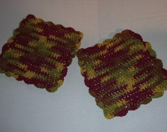 Crocheted Dish Rag Wash Rag Dish Cloth Wash Cloth Reusable Cloth