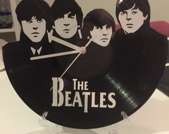"The Beatles vinyl record wall art - upcycled from an original 12"" vinyl record"