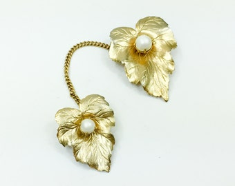 60s Sarah Coventry Gold Leaf Pin Set