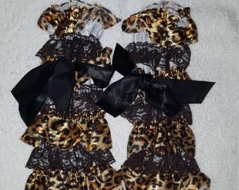 Cheetah ruffle leg warmers