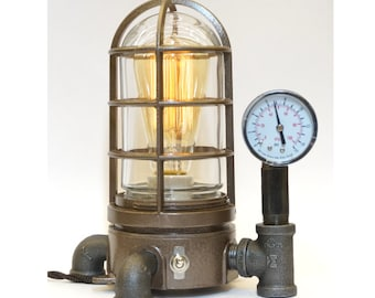 Vintage Industrial Explosion Proof Desk Lamp Steampunk Light #42 Nautical lamp