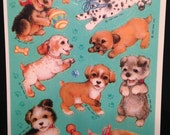 Vintage 80s Puppy Dog & Toys Stickers by Hallmark Cards Full Unused Sheet of 12 Journal Scrapbook Scrap Booking New Condition Ships Free USA