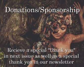 Sponsorships - Special Thank You in Next Issue & Free Issue