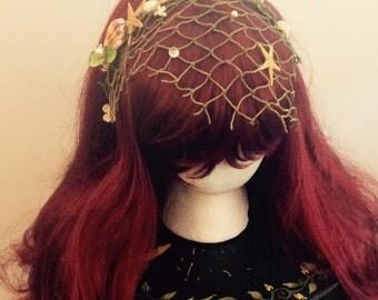 Natural Mermaid headband, lots of color options!