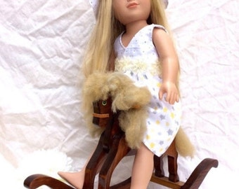 Mid century toy rocking horse perfect for American Girl Doll.