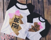 Best Friends Raglan Shirts, Mommy and Me Shirts, Twins Shirts, Sisters Shirts, Sibling Shirts, Hipster Shirt, Gold Glitter Shirts, Heart 801