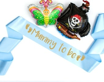 Mummy to be sash personalise with any wording and colour discount on multiples new baby shower boy girl any colour pregnant new mum mom 3107