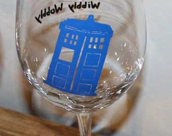 1(ONE) Doctor Who Tardis Glass