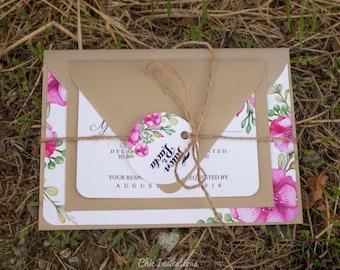 Invitation Floral Vintage Wedding Flowers