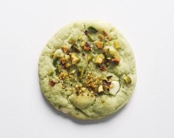 Pistachio White Chocolate Pudding Cookie, Sweet and Salty, homemade baked goods, homemade cookies
