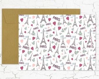 "Postcard ""Paris so love"""