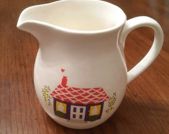 70s Vintage Creamer / Creamer Pitcher / Pitcher / China / House / Heart / Hearts / Home / CIJ / Christmas in July / Rare / Sugar Dish