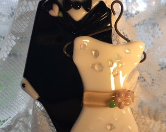 Wedding Dress and Tuxedo Ornament