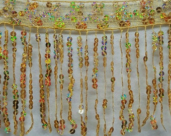 """6""""Long SEQUINS FRINGES Many different colors for your choice,"""