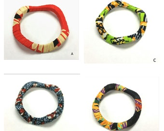 Kitenge Swirl Bracelet: ASSORTED