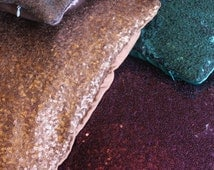 """SPARKLE CUSHION COVER//Sequin Cushions//Decorative Pillow Cover//Square Cushions 18""""x18""""//Beyy//Gold//Silver//Teal"""