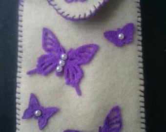 Cosy Felt Phone Case Butterfly