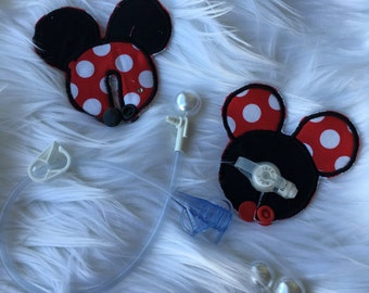 Mickey Mouse red and  black Gtube Pads set of 2 .