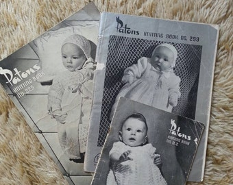 Vintage Patons knitting books. Baby knitting