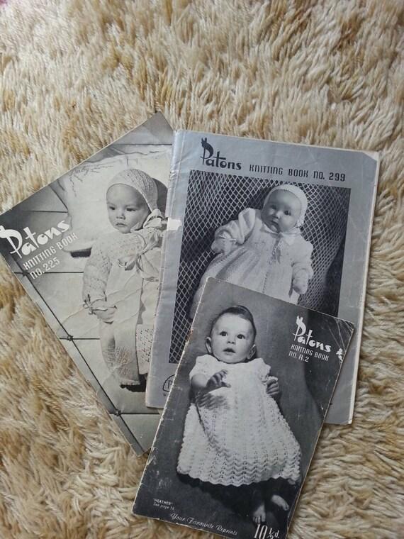 Vintage Knitting Books : Vintage patons knitting books baby